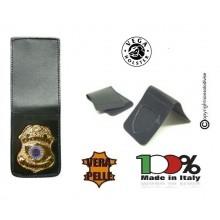 Patella pelle + Fregio per portafogli 1WE Security Service Vega Holster Italia Art. 1WH28