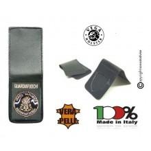 Patella pelle + Fregio per portafogli 1WE Corpo Nazionale Guardiafuochi Vega Holster Art. 1WH121