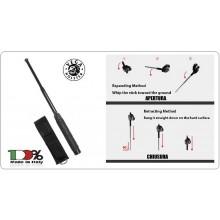 Bastone Manganello Difesa Personale Rigido Retraibile Anti Sudore Anti Scivolo Vega Holster Italia Art.OE92