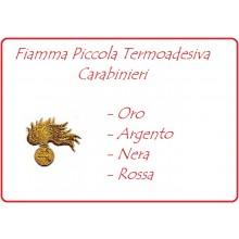 Carabinieri Fiamma Ricamata Termoadesiva Piccola Argento - Oro - Nera - Rossa  Art.EU242