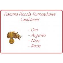 Carabinieri Fiamma Ricamata Termoadesiva Piccola Argento - Oro - Nera - Rossa  Art.EU241N