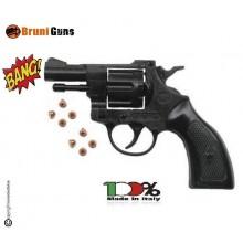 Pistola a Salve Calcio Nero Rivoltella Scaccia Cani Starter Sonoro Revolver Olimpic 6 mm Bruni Art. OLIMPIC-NERA