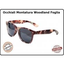 Occhiali Camo con Lente Nera Recon Sunglasses Camo Caccia Militari Esercito Tiro Art.255133N