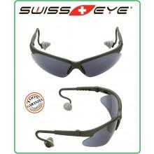 Occhiali da Tiratore con Tappi Antirumore Integrati SwissEye Shooting Glas  VERDE  40253 Art.256104
