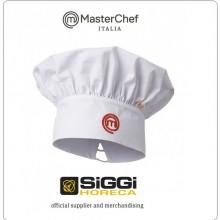 Berretto Cuoco Chef Bianco con Ricamo  Master Chef Masterchef Prodotto Ufficiale Siggi Art.26BE0160