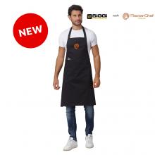 Parannanza Grembiule con Pettorina Falda Nera con Ricamo  Master Chef Originali MasterChef Personalizzata Siggi Nuovo Modello Art. 26PZ0492/00