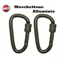 Coppia Moschettone Militare Verde Art.27535B