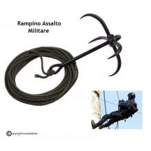 Rampino da Lancio con 10 Metri di Corda Inclusi Arrampicata Commando Militare Assalto GIS NOS CARABINIERI Art. 27783
