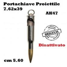 Portachiavi Proiettile Disattivato AK47 Calibro 7.62x39 cm 5.6 Art.28250
