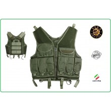Gilet Tattico in Rete e Cordura Militare Sicurezza Vega Holster Italia  Art.2ET02