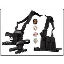 Spallaccio Porta MP5 con Porta Triplo Caricatore Nero O verde OD Vega Holster Italia  Art.2V70