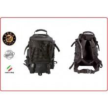 Zaino Tattico Militare 45 litri Schienale  Nero Vega Holster Italia  Art.2ZM10