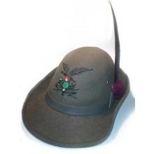 Cappello Alpino Truppa Completo Con Fregio Ricamato e Penna Art.TUS-ALP