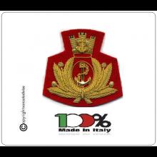 Fregio per Berretto Teso o Basco Fondo Rosso Battaglione Reggimento San Marco - Lagunari Marò  Art.NSD-LAG