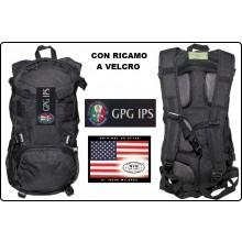 Zaino Rucksack 背包 sac à dos Mochila Tattico Nero US Assult 25 Litri con Ricamo GPG IPS Guardie Particolare Giurate MFH Art.30373A-GPGIPS