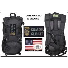 Zaino Rucksack 背包 sac à dos Mochila Tattico Nero US Assult 25 Litri con Ricamo Guardie Giurate MFH Art.30373A-GG