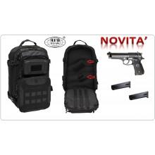 Zaino Borsa Borsone Militare Poligono Porta Pistola Universale Beretta PX4 ecc e Caricatore Operazione I Black MFH Art.30383A