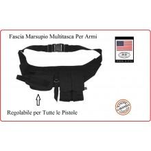 Fascia Marsupio Multitasche con Fondina Porta Pistola e Porta Caricatori MFH Carabinieri Polizia GDF Art.30707A