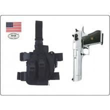 Fondina per Pistola Nera Cosciale XXL Desert Eagle  Cordura 1000D MFH  Art.30711A