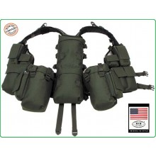 Tactical Vest - Gilet Tattico Modulare - Verde OD MFH Militare Soft Air Paintball Art.30993B