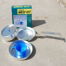 Set Pentole Alluminio Campeggio 1 persona Art.311001