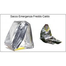 Coperta Sacco per Emergenza Sia dal Freddo che dal Caldo Emergency Sleeping Bag Escursioni Protezione Civile 118 Vigili del Fuoco Art.313228
