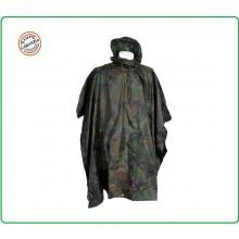 Telo Poncho Rip Stop Impermeabile Antipioggia Woodland Pioggia Temporale Militare Soft Air Caccia Pesca Art.08524J