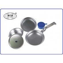 Set Pentole Alluminio Campeggio 2 persone MFH Art.33353
