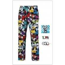 Pantalone Pant Coulisse Medicale Cuoco Chef GRAPHIC Ego Chef Ravazzolo Italia  Art.3502144A