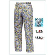 Pantalone Pant Coulisse Medicale Cuoco Chef DOGS & CATS Ego Chef Ravazzolo Italia  Art.3504146E
