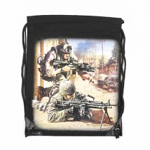 Sacca Cotone Rucksack with print Soldiers Art.351650-3001