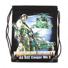 Sacca  Cotone Rucksack with print Proven Mission Art.351650-3002