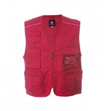Gilet Multitasche New Safari Rosso Croce Rossa Soccorso Sanitario 118 Art.987532