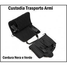 Custodia In Cordura Porta Pistole Trasporto  Armi Poligono INC 101 Art.359432