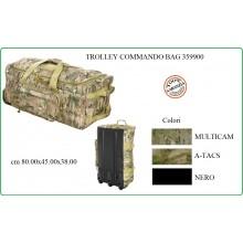 Borsone Trasporto Trolley 120 litri Commando Bag Viaggio Militare Aeronautica Esercito Muliicam A-TACS Nero Art.359900