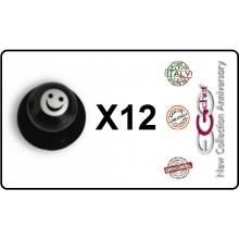 Bottone Bottoni Funghetto per Giacca Cuoco Chef Confezione 12 Pezzi Smile Sorriso Ego Chef Art.BOTT-7