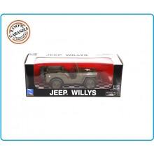 Macchinina da Collezione Toy Jeep Willy's Modello Militare Americano US Scala 1/32 Art.412254