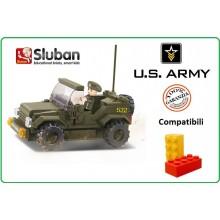 Mattoncini Costruzioni Costruzione JEEP ARMY Sulban Compatibile Lego Art.M38-B0296