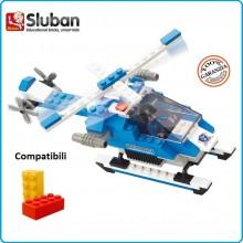Mattoncini Costruzioni Costruzione Set di Costruzione Elicottero Polizia Police  Sulban Compatibile Lego 133 Mattoncini Art.M38-B0185