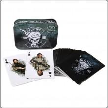 Carte da Gioco Poker Militari con Custodia in Metallo  Military Playing Cards 101 INC Art.419190