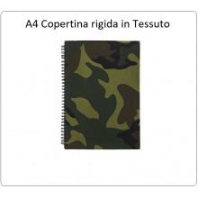Quadernone Quaderno A4 Woodland US Copertina Rigida in Tessuto INC 101 Art.419226.