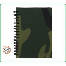 Quaderno Militare Esercito Copertina Rigida Tessuto Mimetico Woodland Formato A4 Art.419226
