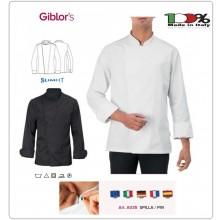 Giacca Mirko Bianca o Nera  Chef Cuoco Ristorazione  GIBLOR'S Anche Personalizzata Art.14P08