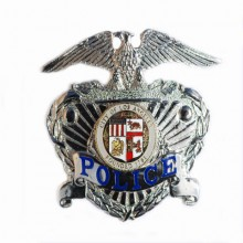 Placca Police City Of Los Angeles Fonded 1781 originale  Argento Nuova Art.441054-1280