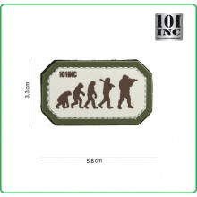 Patch Gommata con Velcro cm 3.50x6.00 Evoluzione Darwin Aersoft Evolution 101 INC Art.444100-3925