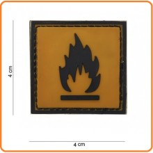 Patch Gommata cm 4.00x4.00 Dangerous Flammabile Infiammabile  Art.444120-3595