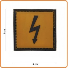 Patch Gommata cm 4.00x4.00 Dangerous Voltage Attenzione Alta Tensione Art.444120-3597