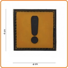 Patch Gommata cm 4.00x4.00 Caution Attenzione Art.444120-3599