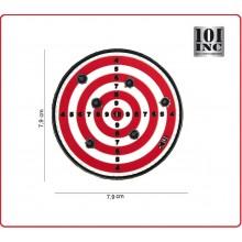 Patch Gommata con Velcro cm 8.00 Bersaglio Rosso con Fori Targhet Red 101 INC Art.444130-3892