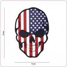 Toppa Patch 3D con Velcro Teschi con Bandiera Americana cm 9x5 INC101 Art.16043